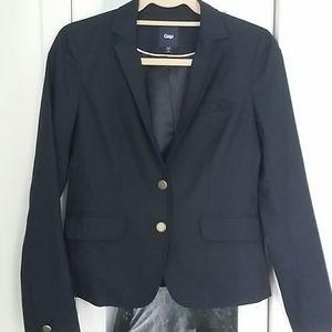 Gap women 2 button blazer, size 2, navy